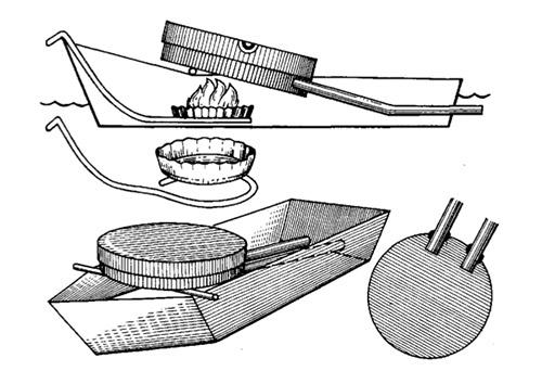 Моделирование кораблей с паропульсиром и принципы кораблей на воздушной тяги.