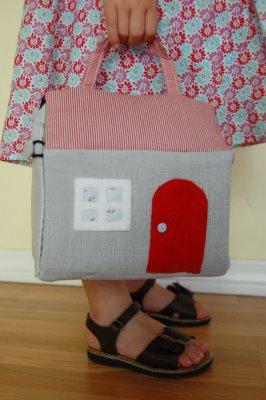 самодельный домик сумка