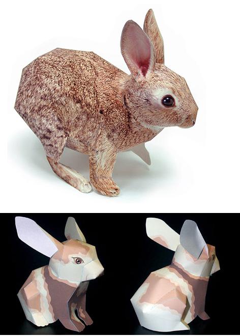 новогодний кролик из бумаги