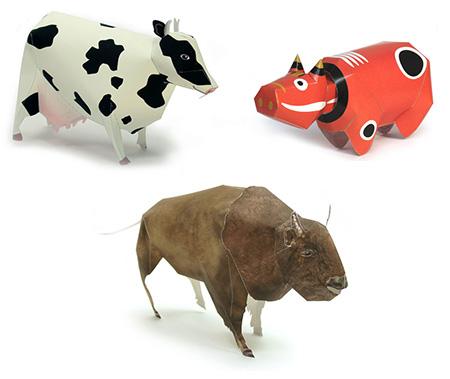 Подборка моделей из бумаги: коровы, козы и хрюшки!