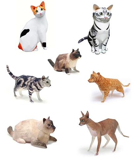 Как сделать из бумаги кошку