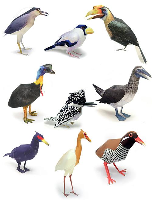 поделки из бумаги - птицы