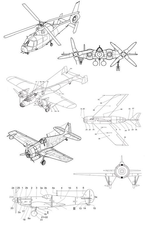 Вертолеты и самолеты из бумаги